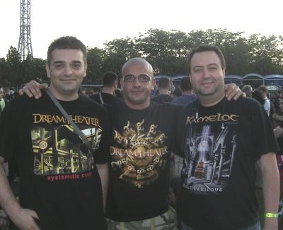 Тодор Христов, Белчо Христов и Майк Рам на концерта на Dream Theater в Каварна