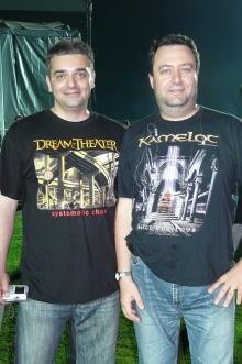 Тодор Христов и Майк Рам след концерта на Dream Theater