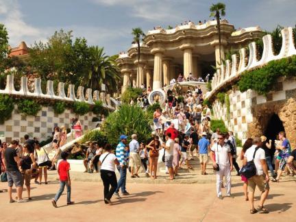 Паркът на Гауди в Барселона, Испания